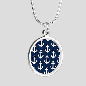 Anchor Me Silver Round Necklace