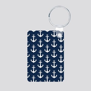 Anchor Me Aluminum Photo Keychain