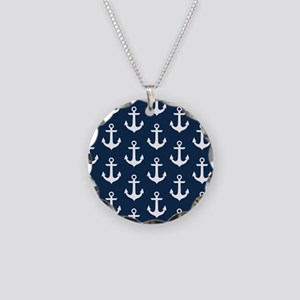 Anchor Me Necklace Circle Charm