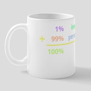 Genius is 1% inspiration and 99% perspi Mug