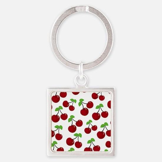 Cherries Square Keychain