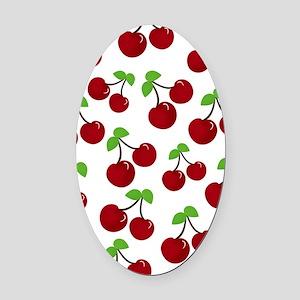 Cherries Oval Car Magnet