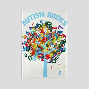 Autism Rocks Rectangle Magnet