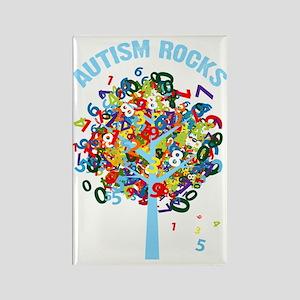 Autism Rocks Rectangle Magnet