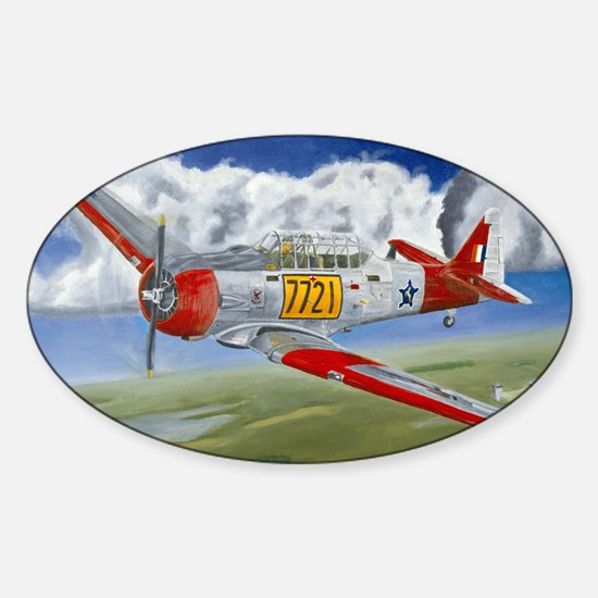 T-6 Texan Oval Decal