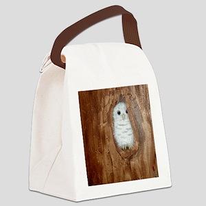 StephanieAM Baby Owl Canvas Lunch Bag