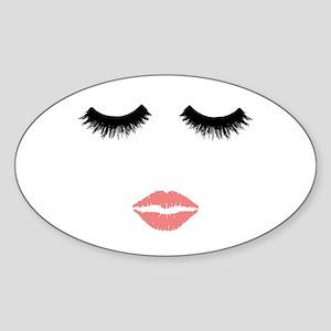 Beautician. Make up artist. Sexy pink lips Sticker