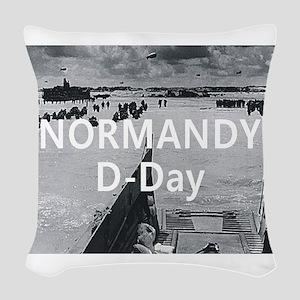 normandy1 Woven Throw Pillow