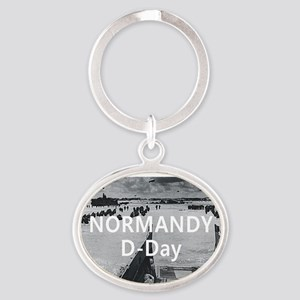normandy1 Oval Keychain