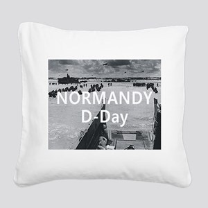 normandy1 Square Canvas Pillow