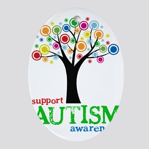 Support Autism Oval Ornament