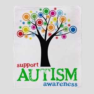 Support Autism Throw Blanket
