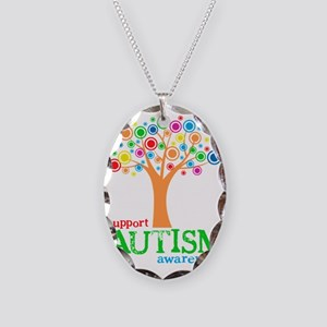Support Autism Necklace Oval Charm