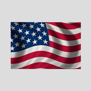USA Flag Rectangle Magnet