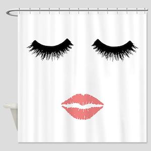 Beautician. Make up artist. Sexy pi Shower Curtain