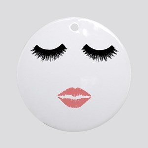 Beautician. Make up artist. Sexy pi Round Ornament