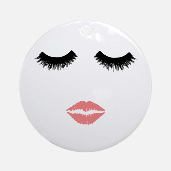 Beautician. Make up artist. Sexy pi Round Ornament