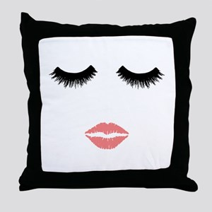 Beautician. Make up artist. Sexy pink Throw Pillow