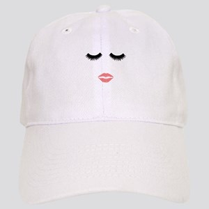 Beautician. Make up artist. Sexy pink lips and Cap