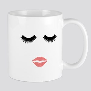 Beautician. Make up artist. Sexy pink lips an Mugs