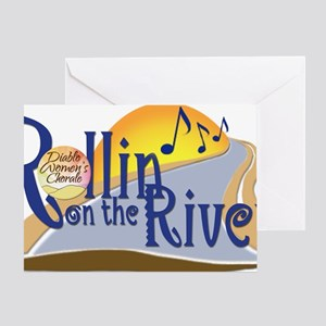 Rollin On The River Concert Logo-Lar Greeting Card