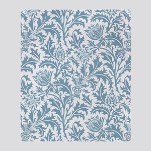 William Morris Pastel Green Thistle  Throw Blanket