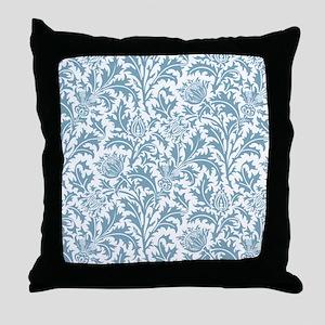 William Morris Pastel Green Thistle P Throw Pillow