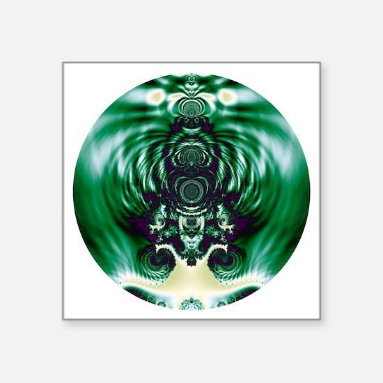 "Green Bell Square Sticker 3"" x 3"""