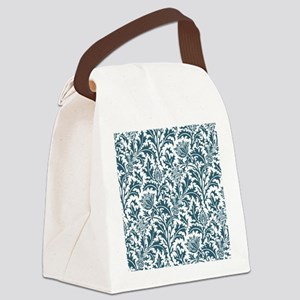 William Morris Thistle Pattern Bl Canvas Lunch Bag