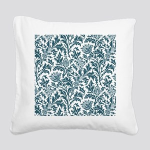 William Morris Thistle Patter Square Canvas Pillow