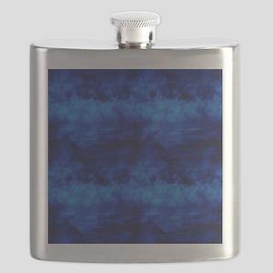 Deep Ocean blue Waves Flask