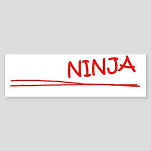 Broker Job Ninja Sticker (Bumper)