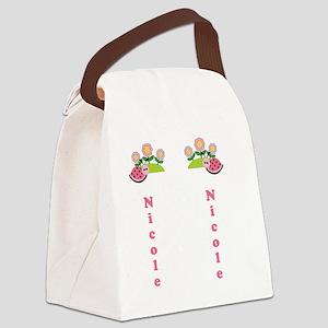 Childrens Girls Summer Flip Flop  Canvas Lunch Bag
