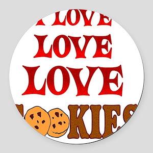 Love Love Cookies Round Car Magnet