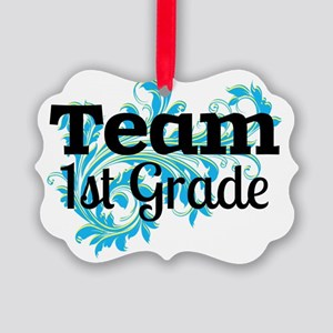 Team First Grade Picture Ornament