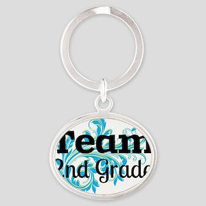 Team 2nd Grade Oval Keychain