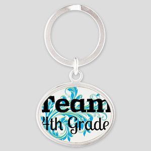 Team Fourth Grade Oval Keychain
