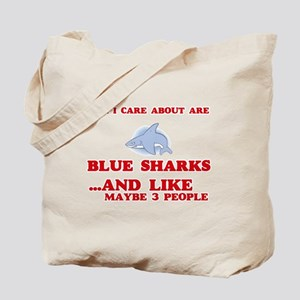 All I care about are Blue Sharks Tote Bag