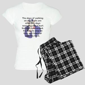THE DAYS OF WALKING ON EGGS Women's Light Pajamas