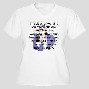 THE DAYS OF WALKI Women's Plus Size V-Neck T-Shirt