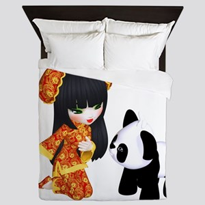 Kawaii China Girl Queen Duvet