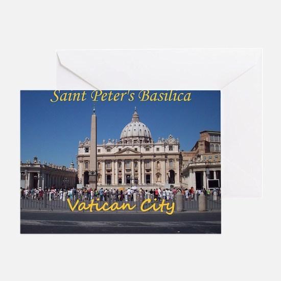 VaticanCity_10X8_puzzle_StPetersBasi Greeting Card