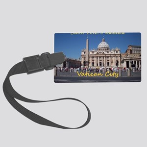 VaticanCity_10X8_puzzle_StPeters Large Luggage Tag