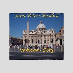 VaticanCity_10X8_puzzle_StPetersBasi Throw Blanket