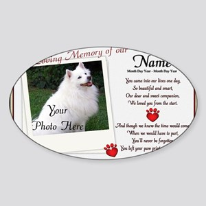 In Loving Memory of Our Sticker (Oval)