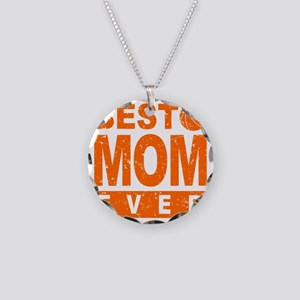 Best Basketball Mom Ever Necklace Circle Charm