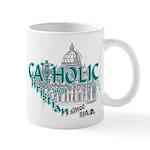 Catholic and Christian (Teal) Mug