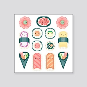 "Sushi Square Sticker 3"" x 3"""