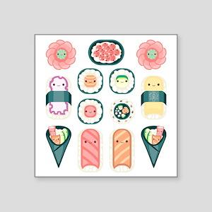 """Sushi Square Sticker 3"""" x 3"""""""