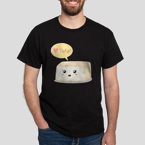 Kawaii tofu asking people to love tof Dark T-Shirt